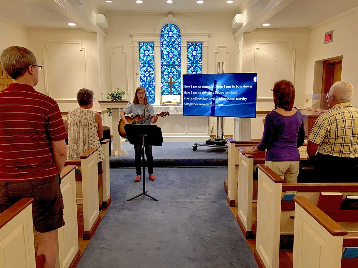 Saturday service includes live music along with a brief message and reflection